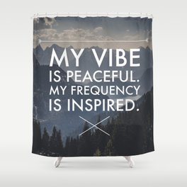 Peaceful Vibes, Inspired Frequencies Shower Curtain