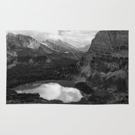 Grinnell Lake from the Trail No. 2 bw Rug