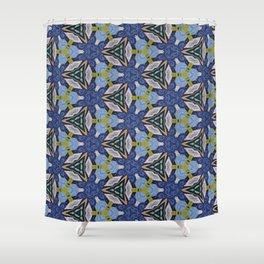 Blue Fling Thing Shower Curtain