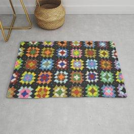 Crochet Granny Squares // Bright Rug