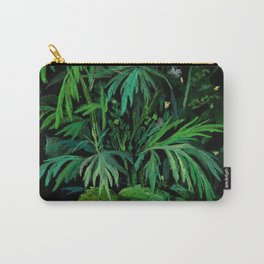 Summer Greenery, Green & Black Carry-All Pouch