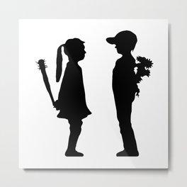 Boy Vs Girl Metal Print