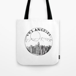 Los Angeles city in a glass ball 2  Home Decor Graphicdesign Tote Bag