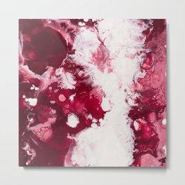 Color Commentary #3: Valentine's Gone Wrong (Dark Pink & Light Pink) [Robyn Miller] Metal Print