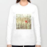 cardinal Long Sleeve T-shirts featuring cardinal by Bonnie Jakobsen-Martin