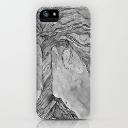 Tree of Life (Grey Scale) iPhone Case