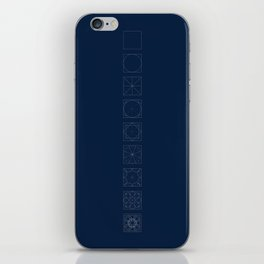 8 fold rosette in blue iPhone Skin