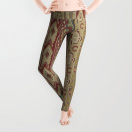 Navajo Geometric Pattern 1 Leggings