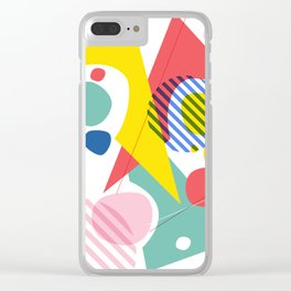 Abstract Pop IV Clear iPhone Case