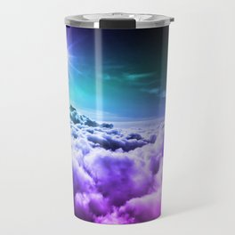 Cool Tone Ombre Clouds Travel Mug