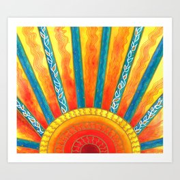 Sunny with Zero Chance of Clouds Art Print