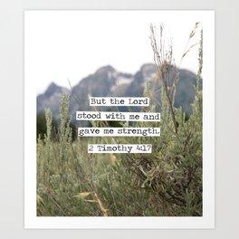 2 Timothy 4:17, Grand Teton Art Print