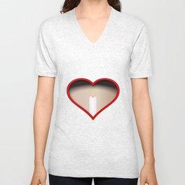 Love Candles Unisex V-Neck