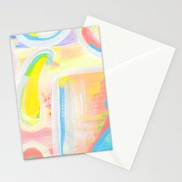 Abstract Yellow Square Study Stationery Cards