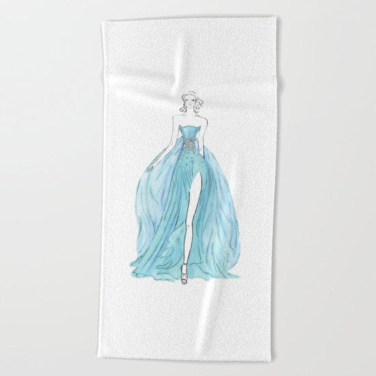 Floating Dress Beach Towel