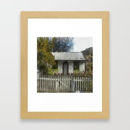 Settler's Cottage Framed Art Print