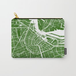 Green City Map of Amsterdam, Netherlands Carry-All Pouch
