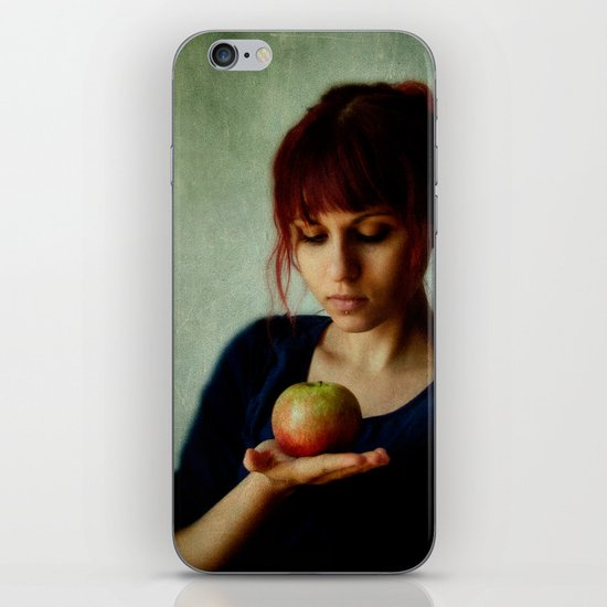 the girl with the apple iPhone & iPod Skin