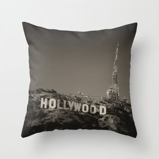 Vintage Hollywood sign Throw Pillow