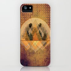 try again tree-angles mountains iPhone (5, 5s) Slim Case