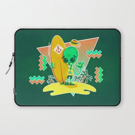 Alien Surfer Nineties Pattern Laptop Sleeve