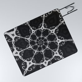 Dark Mandala #3 Picnic Blanket