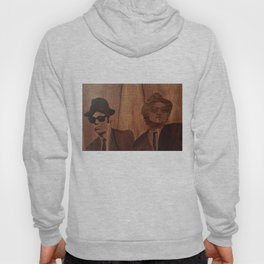 Blues brothers marquetry picture of wood Hoody