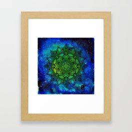 Anatomandala II x Watercolor Nebula Framed Art Print
