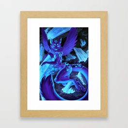 Crystaline Glow Framed Art Print