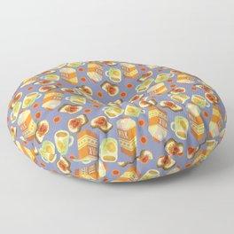 Coffee and Toast (Prune Purple) Floor Pillow