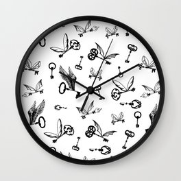 Flying Keys Wall Clock