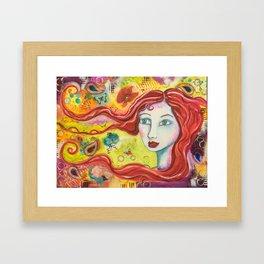 Brigid - Gold Lotus Oracle Series Framed Art Print