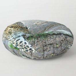 Amur Leopard Floor Pillow