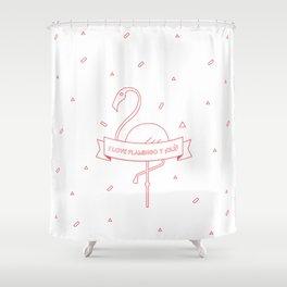 i love flamingo y ¡olé! Shower Curtain