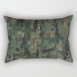 Digital Woodland Camo Rectangular Pillow