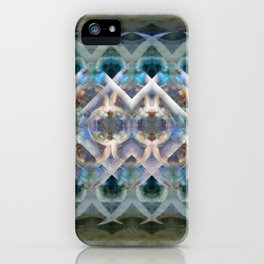 Abstract Multi-Colored Fractal (Night) iPhone Case