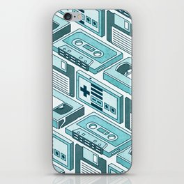 90's pattern-blue iPhone Skin