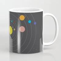 solar system Mugs featuring Solar System by Loaded Light Photography