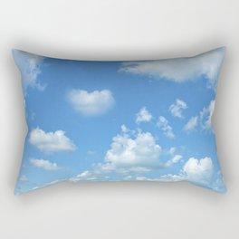 Blue sky and clouds Rectangular Pillow