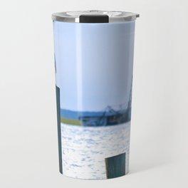 the egret and the shipwreck Travel Mug