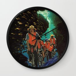 Bike Tour Wall Clock