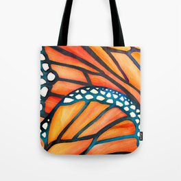 Monarch Butterfly Wings Watercolor Abstract Tote Bag