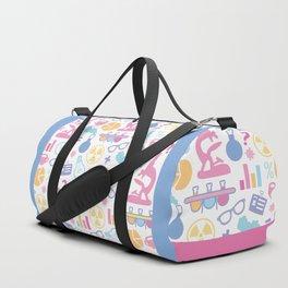 Pastel Science Pattern Duffle Bag