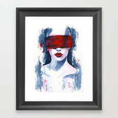 Blind love is  Framed Art Print