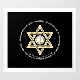In Loving Memory Victim Names Tree Of Life Or L'Simcha Congregation Keep Sake (Black) Art Print