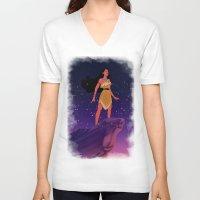 pocahontas V-neck T-shirts featuring Pocahontas ♥ by Vita♥G