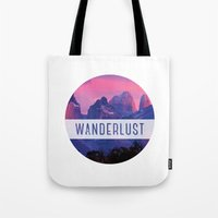 wanderlust Tote Bags featuring Wanderlust by snaticky