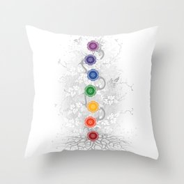 Chakra Tree Art Throw Pillow