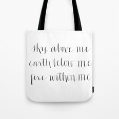 Fire Within Me Tote Bag