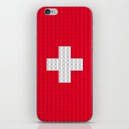 Swiss flag by Qixel iPhone Skin